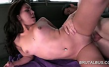 Teen naked hottie taking large cock deep in her wet pussy
