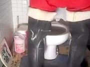 nlboots - red unionsuit waders toilet