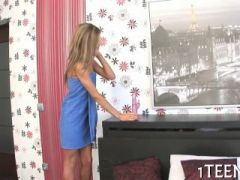 young beauty is impressing stud with her skillful blowjob