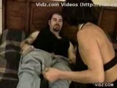 Tremendous dong fills tight horny cunt