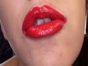 asian blue lipstick and red lipstick