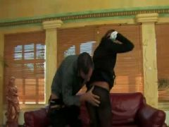 Panty Hose glam European prostitute gets fucked
