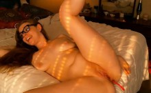Wife fucks friend with ass vibrator and she loves it