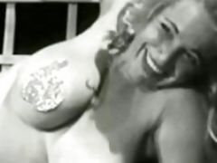 Busty Vintage Natural Tits Lady Nude Solo