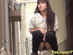 Hot asian girls ###ing in alley