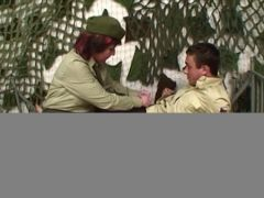 Pierced Pussy Senior Army Officer Reprimands A Soldier  HD
