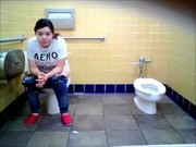 mexican girl sit to pee
