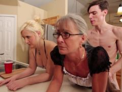 Mother and daughter fucked side-by-side