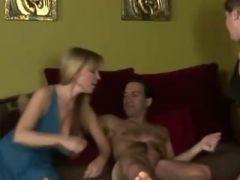 Hot family cock sucking action