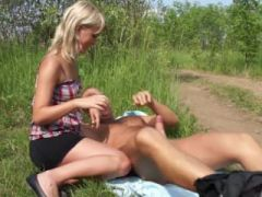 Perfect and titty outdoor fuck