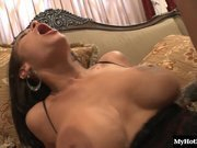 Angelina Valentine drops her dress and