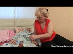 Grandma loves anal sex with her toy boy  HD