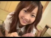 18 Year Old Asian Schoolgirl Gives BJ