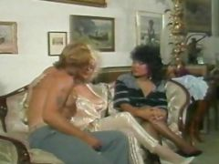 Classic Hairy Pussy Group Sex Action