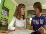 Teenagers havingsex on the kitchen table