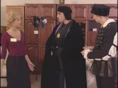 Two magicians and saleswomen