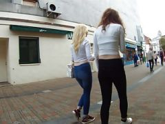 Teens in skin-tight jeans