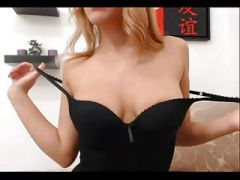 Young blonde with big boobs