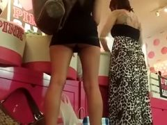 I easily made this upskirt clip \'coz the gal was wearing a too-short skirt