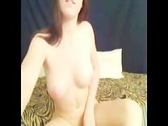 amateur babe Meg Davis playing with her pussy in front of the web