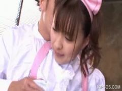 jap maiden cunt teased in close-up