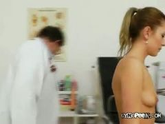 Keira Lies Naked For Old Medic To Examine