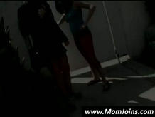 model model and gets Mom showing Tits