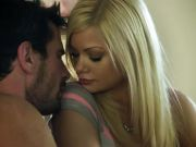 Riley Steele rocks back and forth on a stiff cock