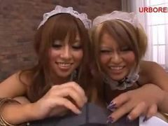 kirakira BLACK GAL threesome maid 01