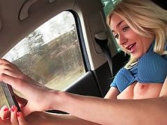 Teen Victoria Puppy takes a lift and fucks hard by the pervy driver