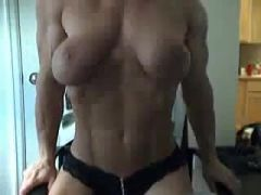 Amateur female bodybuilder webcam video
