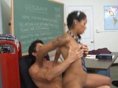 Chocolate skin School Hotty Acquires Her Grades Up,By Blondelover