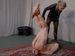 Caning hanging upside down