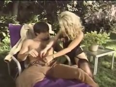 blonde loves to fuck outside