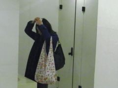 Cute and petite japanese girl is ing in the toilet