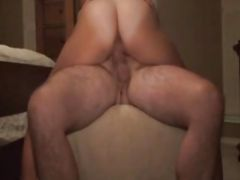 Hot couple fuck close up in hotel room