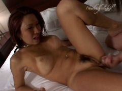 Beauty and hot japanese girl with hungry pussy is having sex