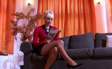 Captivating honey gets tits and juicy pussy pleasured