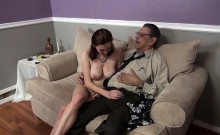 Milf with Huge Boobs Blowjob and Fucking