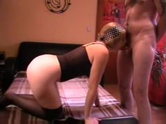 Sexy dressed hot wife gets down and dirty