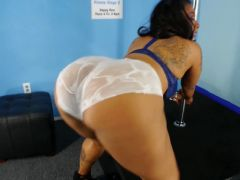 Rocaholix in Blue Bra and White Panties