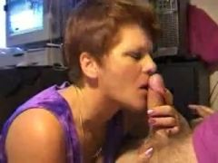 Youthful non-professional wife sucking for friend