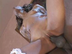 Skinny and smoking hot black girl is a wild dick rider
