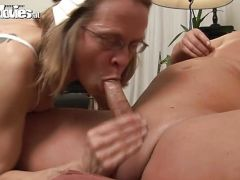 Marga enjoys the pleasures of a huge dildo