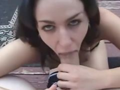 Chavette sucking on a huge ramrod