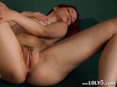 Redhead Arial woman on billiards