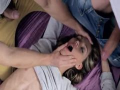 sofa time and luxury MMF threesome