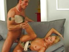 Sue Diamond gets fucked hard on the couch