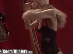 Sweet blonde babe changing clothes on hidden cam