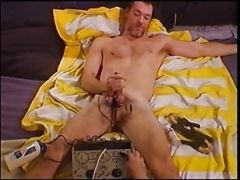 Extreme Electro Using My Modified Relaxicisor On My Bottoms Thick Cock And Big Balls.